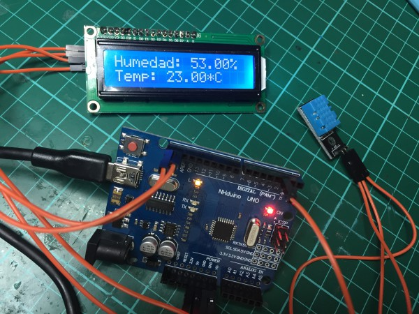 Arduino UNO dht11 LCD 16x02